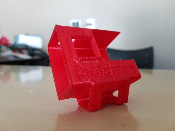 Case Protetor Gopro  em TPU Hero 5 & 6 C/ Base 30º (Vermelho)