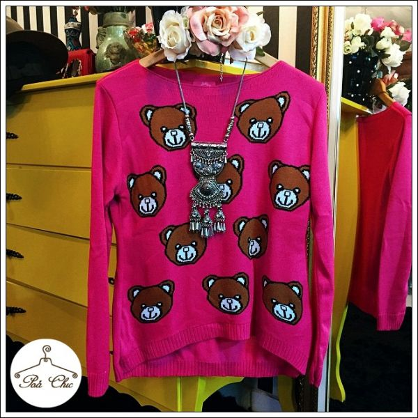 Tricot Ursinhos Pink