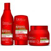 Kit Banho de Verniz Morango Brilho Extremo Forever Liss máscara 250g