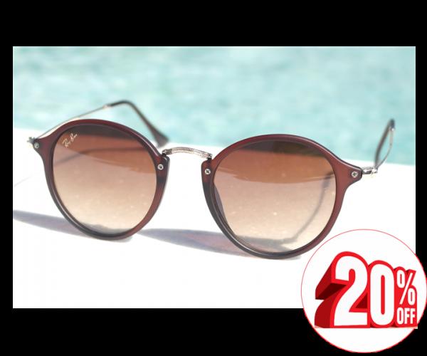 67ccf92e7 Óculos de sol feminino Ray ban Round Retrô 2447 Inspired - Daf Store