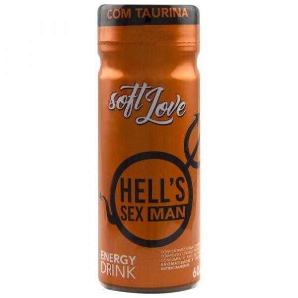 HELLS SEX MAN ENERGY DRINK 60ML SOFT LOVE