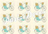 Papel Arroz Bicicleta Faixa Lateral A4 001 1un