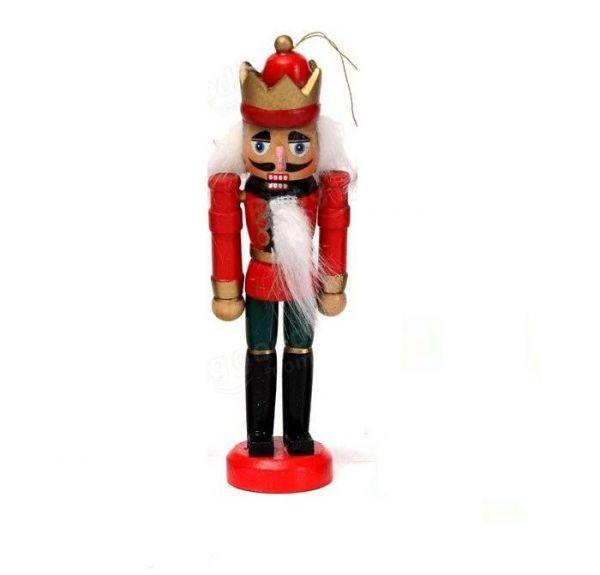Soldado Quebra Nozes de Madeira de Árvore de Natal 12cm