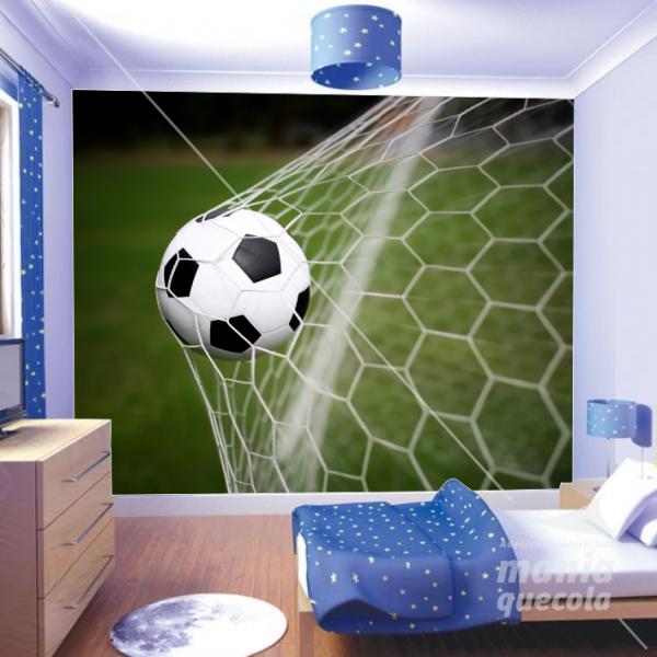 e9e3d4f680 Painel Adesivo Bola de Futebol Gol - Mania Que Cola Adesivos Decorativos