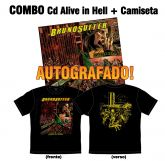 *LANÇAMENTO* COMBO: Cd Alive in Hell + Camiseta Alive in Hell