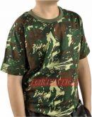Camiseta camuflada selva infantil