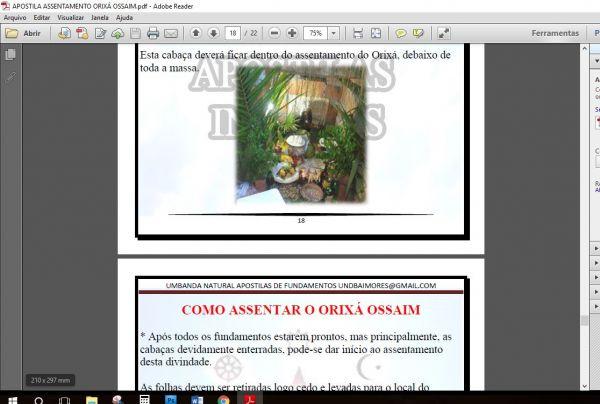 APOSTILA ASSENTAMENTO ORIXÁ OSSAIM