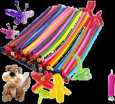 Balão Canudo Colorido 50un