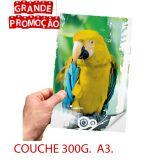 Impressão Colorida - A3 - COUCHE FOSCO 300g.
