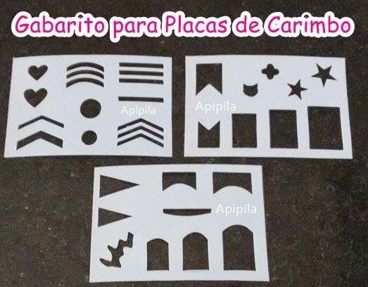 3 Gabaritos para uso em placas de Carimbo de Unhas.