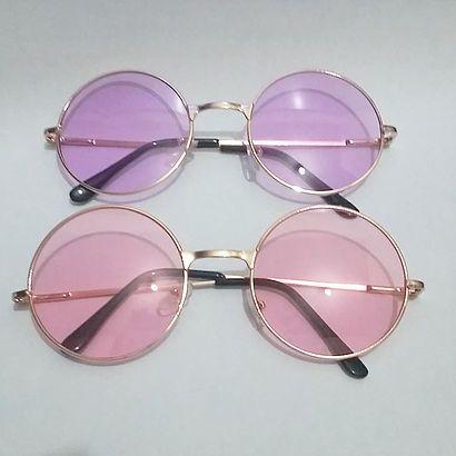 Óculos Redondo Pastel Pink