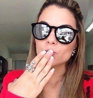 32d86b597 Óculos Style Erika Veludo - Preto com lente espelhada - Miami fashion