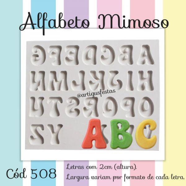 Alfabeto Mimoso (letras maiúsculas)
