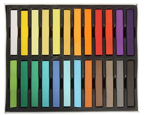 Giz Para Colorir Cabelos 24 Cores Cod.001