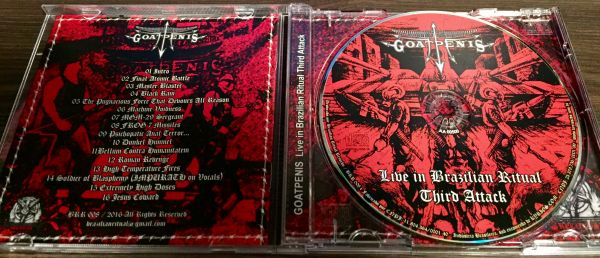 GOATPENIS - LIVE IN BRAZILIAN RITUAL - THIRD ATTACK - CD