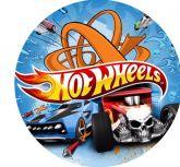 Papel Arroz Hot Wheels Redondo 007 1un