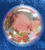 Bola de Natal Personalizadas - 05 unidades