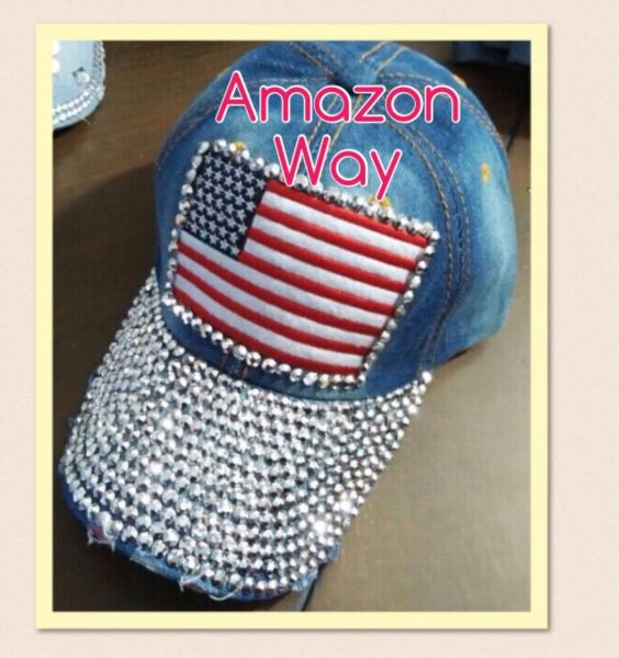 Boné jeans com strass - Amazon Way Western d22bcf5ff83
