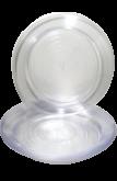 Prato Cristal Descartável 21cm 10un