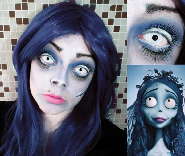 Crazy Halloween white - 14mm