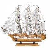 Barco Caravela Decorativo 50 Cm - Réplica em Madeira Maciça