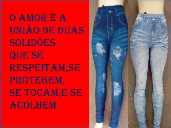 Calças Falso Jeans:56 Elastano Lycra,caminhadas,passeio,festas