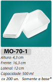 MO-70-1 BANDEJA 500 ML C/ 200 UN.