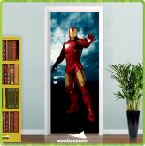Adesivo Porta -  Vingador Homem de Ferro 2 - porta 412