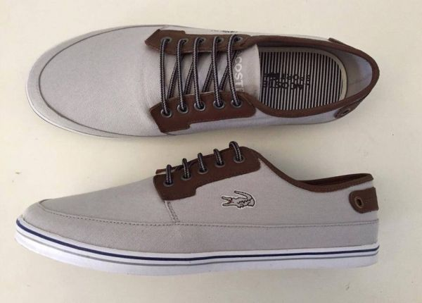 bb1335646ff3c Sapatênis Lacoste Cinza Claro - Outlet Ser Chic