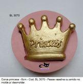 Coroa Princess 6x4cm  - Cod. BL 3070