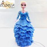 Boneca luminaria decorativa Frozen da Bem me quer Art's