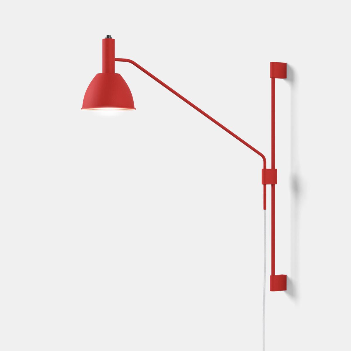 Micro bauhaus 90 w2 arandela vermelho