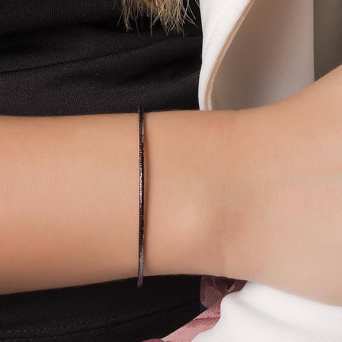 Bracelete Folheado Ródio Negro