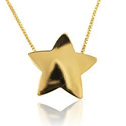 Colar Choker Folheado Ouro 18K Estrela