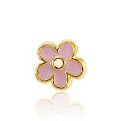 Berloque Flor Folheado Ouro 18K