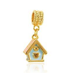 Berloque Casa Folheado Ouro 18K