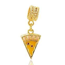Berloque Pizza Folheado Ouro 18K