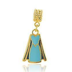 Berloque Folheado Ouro 18K Vestido Princesa Elsa