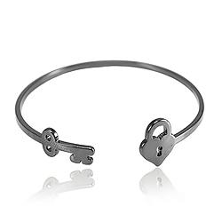 Bracelete Folheado Ródio Negro Inspired Tiffany