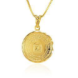 Colar Folheado Ouro 18K Dez Mandamentos