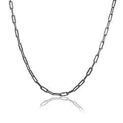 Colar Folheado Ródio Negro Long Necklace Cartier