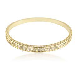 Bracelete Folheado Ouro 18K com Detalhes de Micro Zircônia Cristal