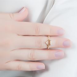 Anel Falange Folheado Ouro 18K Coroa com Micro Zircônia Cristal