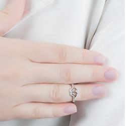Anel Falange Folheado Ródio Coroa com Micro Zircônia Cristal