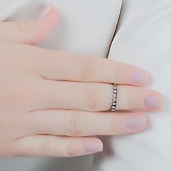 Anel Falange Folheado Ródio Negro com Detalhe de Micro Zircônia Cristal