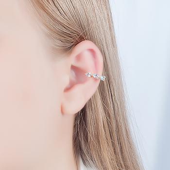 Piercing Fake Folheado Ouro 18K com Cristal Gota Aquamarine