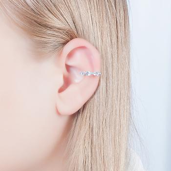 Piercing Fake Folheado Ródio com Cristal Gota Aquamarine