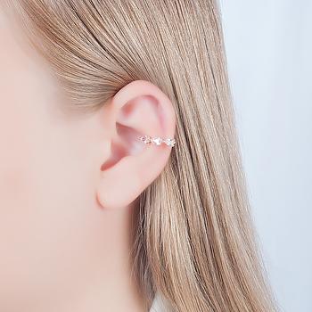 Piercing Fake Folheado Ouro 18K com Cristal Gota Turmalina Rosa