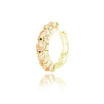 Piercing Fake Folheado Ouro 18K com Cristal Morganita CANDY COLORS