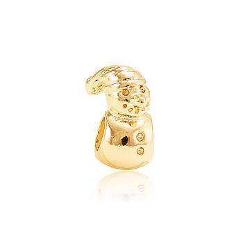 Berloque Boneco de Neve Ouro PIG04 MOD114